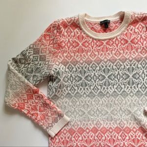 Talbots• colorful fair isle graphic wool sweater
